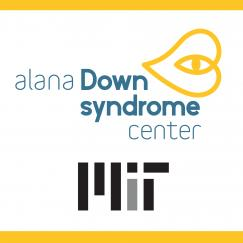 A flyer in blue and yellow describing the symposium Translational Research in Down Syndrome