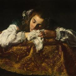 """Sleeping Girl"" by Domenico Fetti"