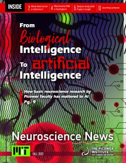 "Newsletter cover says ""From Biological Intelligence to Artificial Intelligence"""